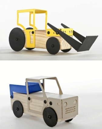 Designer vehicles to build with the kids
