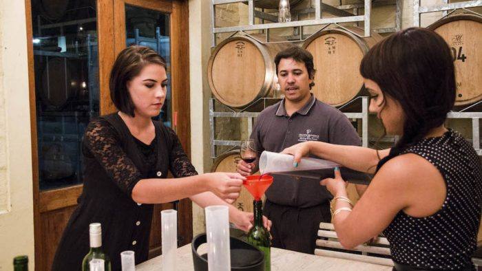 Hands-on blending encounters at Grande Provence Heritage Wine Estate are hot this winter