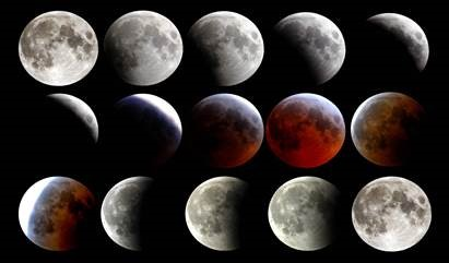 Telescopic Views of the Total Lunar Eclipse