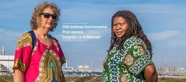 Goldman Award recipients Liziwe McDaid and Makoma Lekalakala